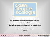 "Projet Open Source Ecology - Transitions² / ""Agenda pour le Futur"" - Open Conference, 23 mars 2017"
