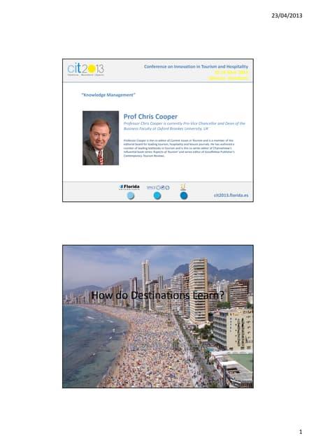 Keynote speech on Knowledge Management - Mr Chris Cooper