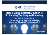 NUS's Digital Learning Journey in Enhancing Teaching and Learning
