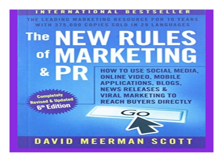The New Rules of Marketing and PR How to Use Social Media Online Vide…