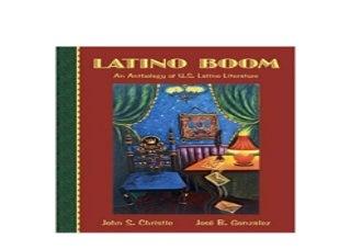 Latino Boom An Anthology of US Latino Literature PDF
