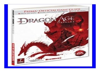 Dragon Age Origins Prima Official Game Guide Prima Official Game Guides book 843