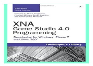 XNA Game Studio 4.0 Programming Developing for. Windows Phone 7 and Xbox 360 Developer39s Library book 872