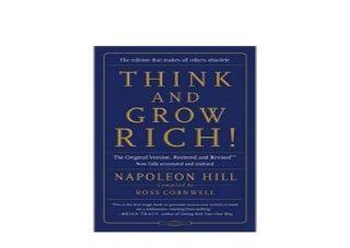 Think and Grow Rich The Original Version Restored and Revised TM Nice