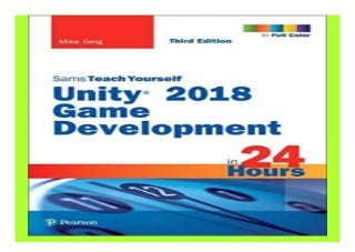 Unity 2018 Game Development in 24 Hours, Sams Teach Yourself 3rd Edition book 598