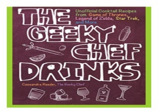 The Geeky Chef Drinks Unofficial Cocktail Recipes from Game of Thrones, Legend of Zelda, Star Trek, and More book 154