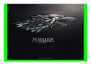 Winter is Coming, Stark Game of thrones notebook, 100 lined pages book 758
