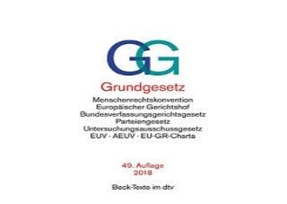 Grundgesetz GG mit Menschenrechtskonvention Verfahrensordnung des EuropAischen Gerichtshofs fur Menschenrechte Bundesverfassungsgerichtsgesetz der EuropAischen Union dtv Beck