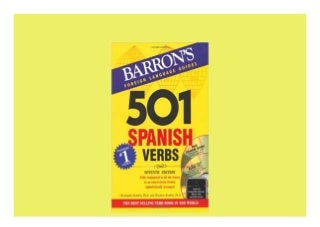501 Spanish Verbs with CD-ROM and Audio CD 501 Verb Series 7th Edition Perfect
