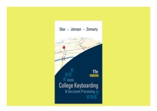 Gregg College Keyboarding & Document Processing GDP Lessons 1120 main text 11th Edition Perfect