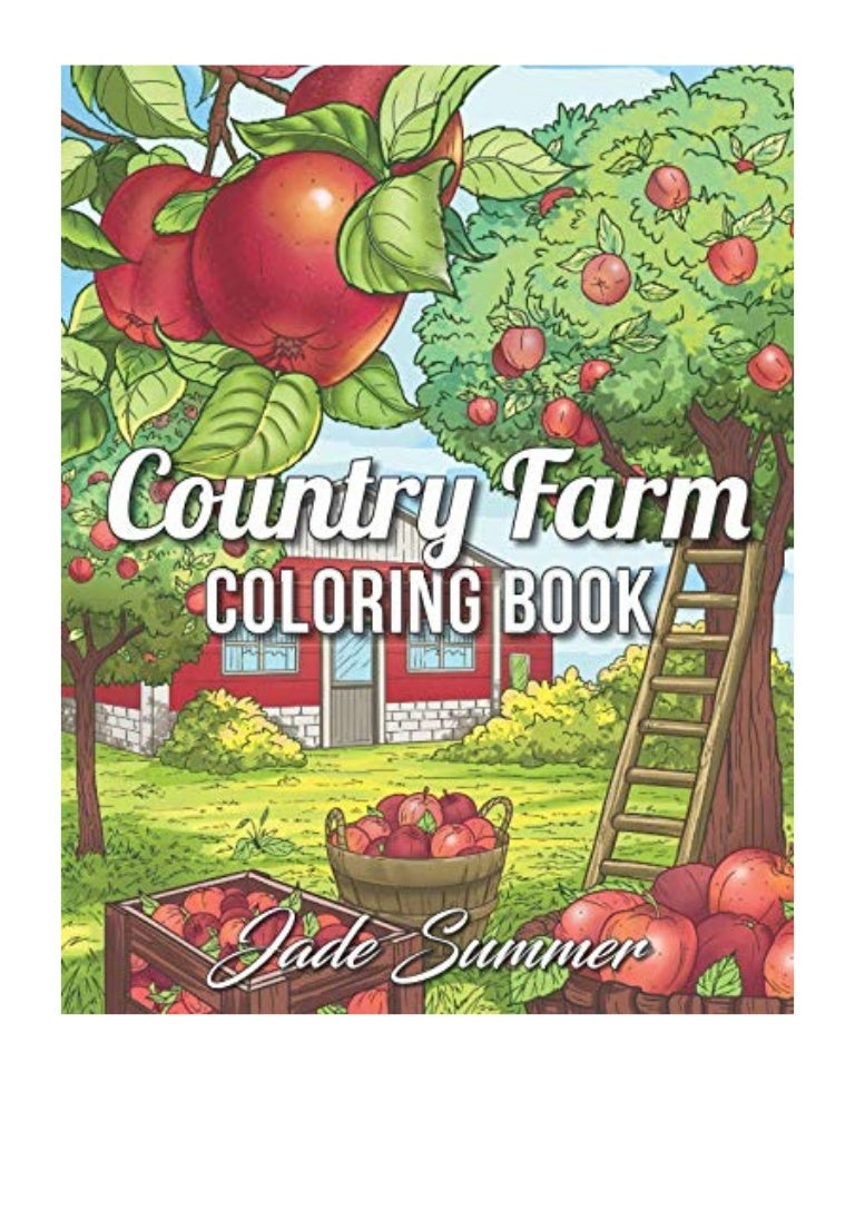 Country Farm Coloring Book PDF - Jade Summer An Adult ...
