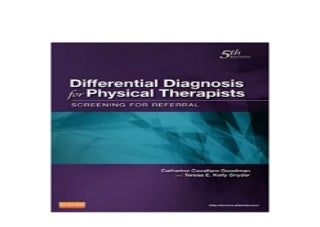 Differential Diagnosis for Physical Therapists Screening for Referral Differential Diagnosis In Physical Therapy Nice