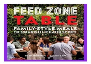 Feed Zone Table Family-Style Meals to Nourish Life and Sport The Feed Zone Series book 919