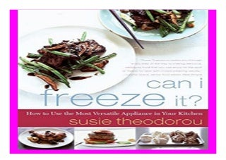 Can I Freeze It? How to Use the Most Versatile Appliance in Your Kitchen book 757