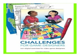 Challenges for. Game Designers book 726