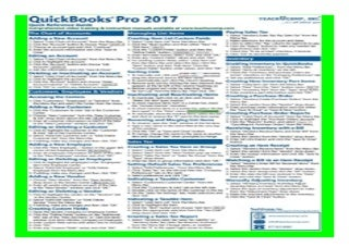 QuickBooks Pro 2017 Quick Reference Training Card - Laminated Tutorial Guide Cheat Sheet Instructions and Tips book 574