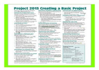 Microsoft Project 2013 Quick Reference Guide Creating a Basic Project Cheat Sheet of Instructions, Tips amp Shortcuts - Laminated Card book 711