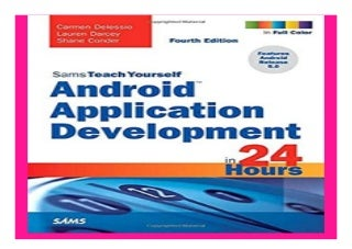 Android Application Development in 24 Hours, Sams Teach Yourself 4th Edition book 125