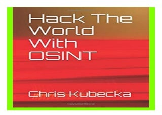 Hack The World with OSINT Hackers Gonna Hack book 961