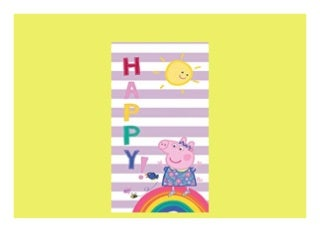 Interessanter Preis BERONAGE Kinder Badetuch Peppa Wutz Pig Motiv Happy 75 x 150 cm 100 Baumwolle in Veloursqualität Strandlaken Strandtuch Badelaken Duschtuch Handtuch