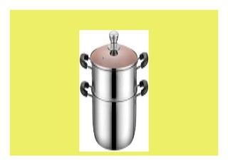 Bester Deal KaiKai 2TierDampfer mit Glasdeckel und Hochglanz poliert Edelstahl Größe 26 285cm Size 24 275cm