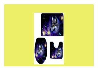 Bester Verkauf Coloranimal Fashion Galaxy 3teiliges Badezimmer Teppich Matte Set Contour Teppiche mit Deckel Abdeckung Modern Galaxy wolf11