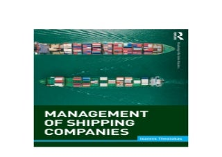 Management of Shipping Companies Routledge Maritime Masters Awesome