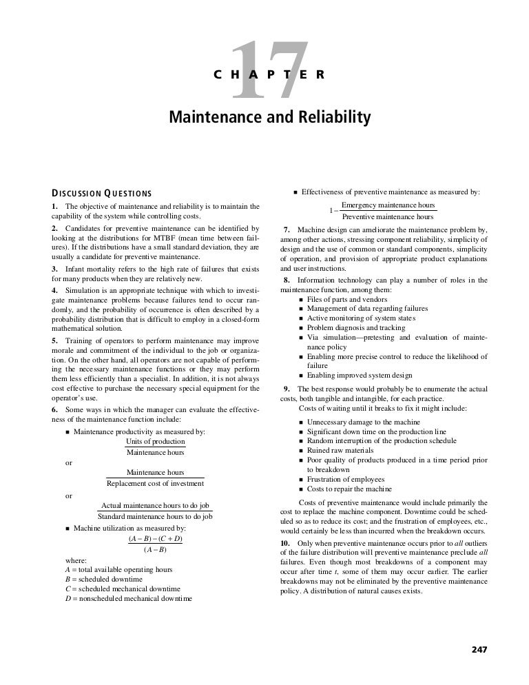 Operations management solution manual (chapter 12).