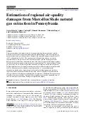 Study: Estimation of regional air-quality damages from Marcellus Shale natural gas extrations in PA