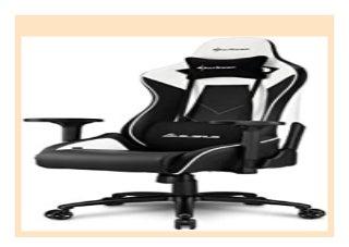 BEST SELLER Sharkoon Elbrus 3 Premium Gaming Stuhl, mit Kunstlederbezug, Aluminiumfu�kreuz, 3-Wege-Armlehnen, Stahlrahmen, Kopf- und Lendenkissen mit Stoffbezug review