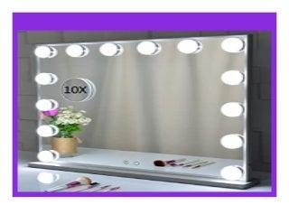 HOT PROMO Hollywood Kosmetikspiegel mit Beleuchtung,beleuchtetem Make-up-Dressing an der Tischplatte oder an der Wand befestigten Kosmetikspiegeln mit abnehmbarem Kosmetikspiegel mit 10-facher Vergr��erung review