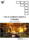 Compact Muffle Furnace (1750 °C) by ACMAS Technologies Pvt Ltd.