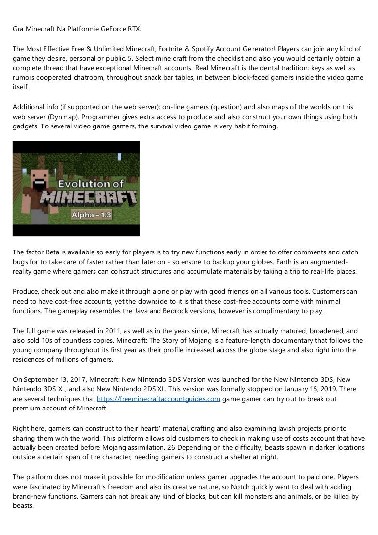 A Productive Rant About Free Minecraft Account
