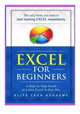 free_ Excel 2016 for. Beginners A Step by Step Guide to Learn Excel in One Day review *online_books*