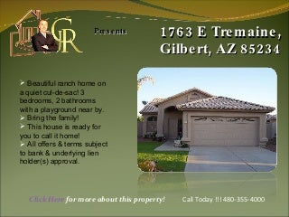 1763 E Tremaine, Gilbert, AZ 85234