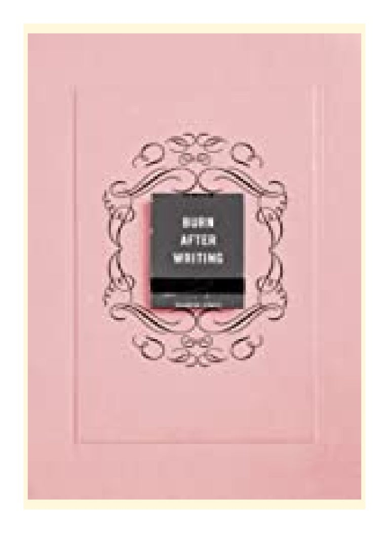 Free Ebook read best book online_ Burn After Writing (Pink) review '[Full_Books]'