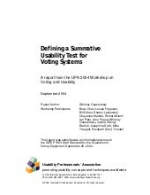 Defining a Summative Usability Test...