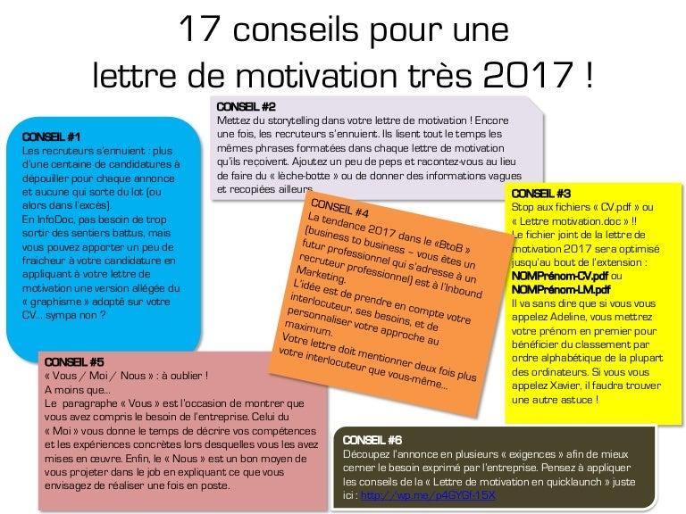 conseil pour lettre de motivation 17 conseils pour une lettre de motivation efficace en 2017 conseil pour lettre de motivation