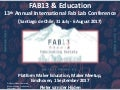 FAB13 & Education; Report on the 13th Annual International Fab Lab Conference (Santiago de Chile, 31 July - 6 August 2017)