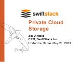 SwiftStack Presents at Under the Radar 2013