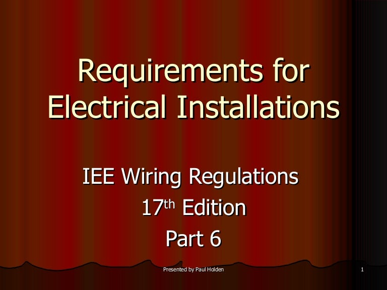 iee wiring regulations bs 7671  pdf