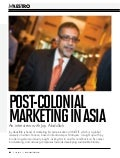 Marketing in Post-Colonial Asia-- An interview of Joy Abdullah by Dr. Jonathan A J Wilson