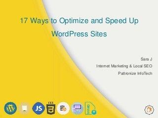 17 Ways to Optimize and SpeedUp WordPress Sites