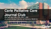 Carle Palliative Care Journal Club for 7/3/18
