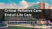 Critical Palliative Care: End-of-Life Care