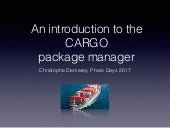 An introduction to the CARGO package manager