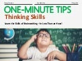 One-Minute Tips: Thinking Skills