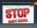 18002402551 Troubleshoot Internet Explorer Script errors - Steps