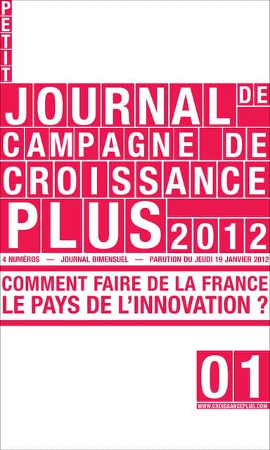 CroissancePlus : Le Petit Journal de Campagne - Numéro 1