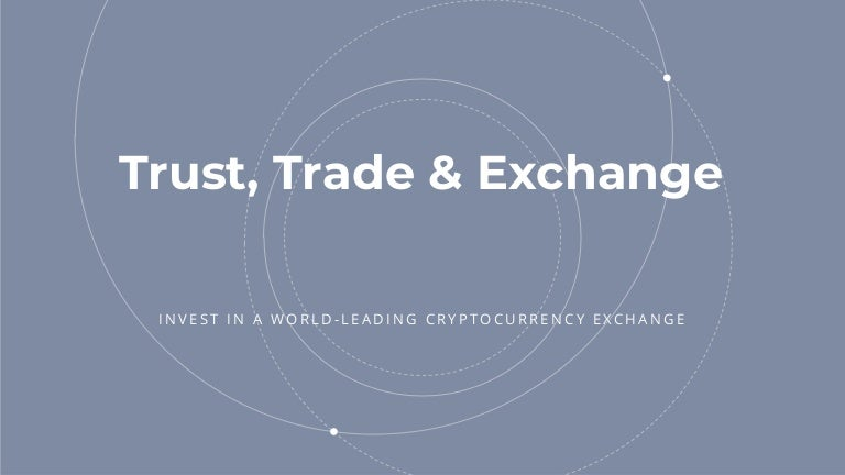 cryptocurrency exchange pitch deck